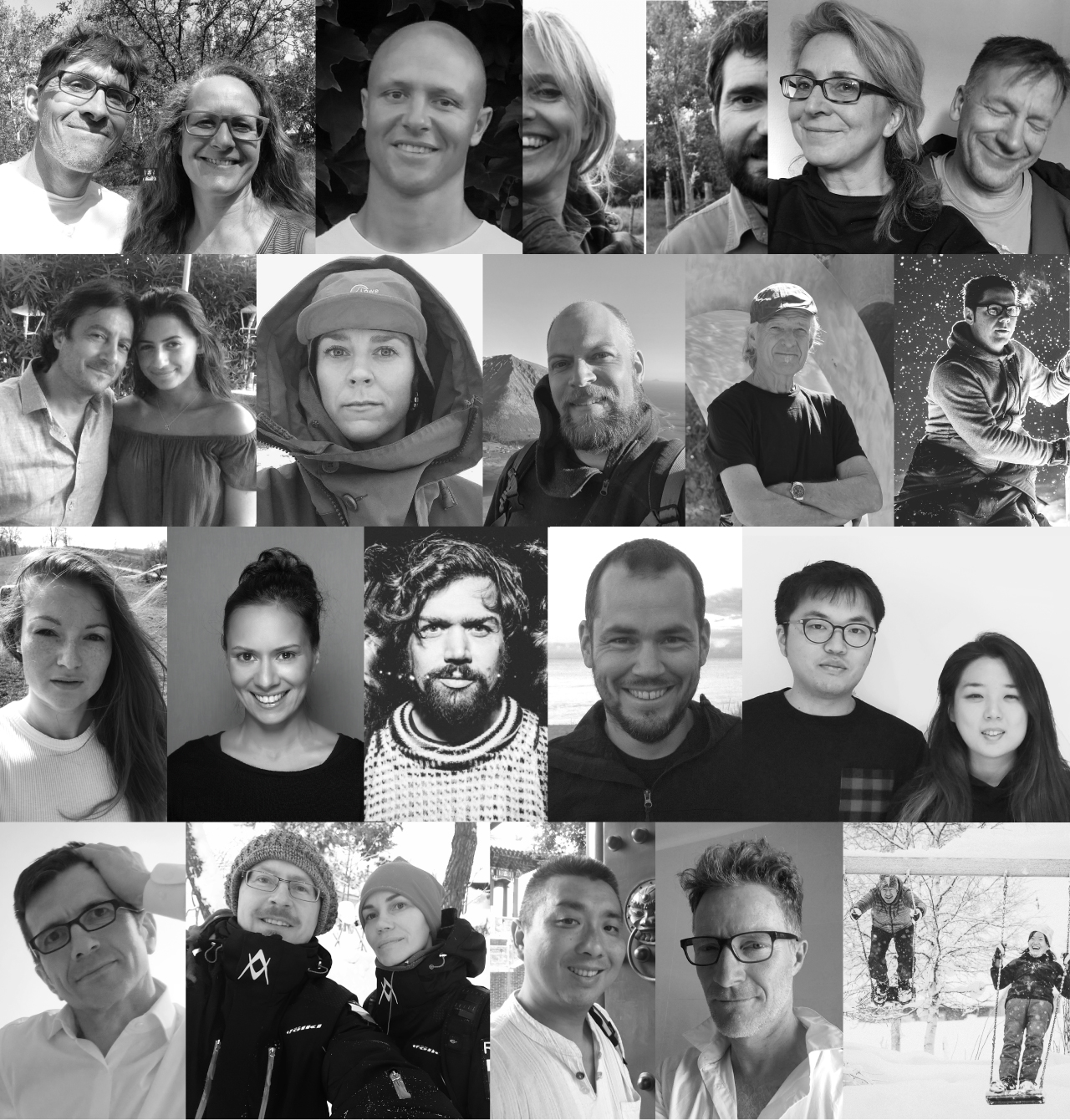 collage of artists portraits icehotel 30